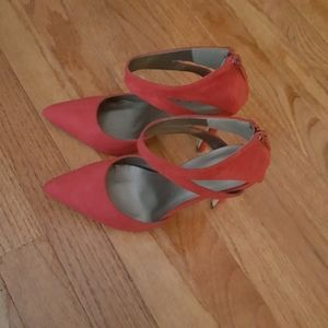 MICHAEL ANTONIO RED SUEDE LEATHER HIGH HEEL